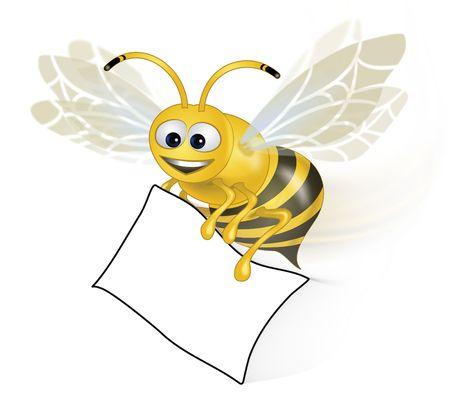 Bee Happy with paper Zdjęcie Seryjne