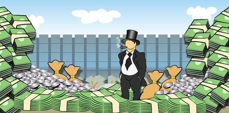 Money Men Stock Photo