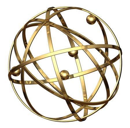 commendation: Award Globe - isolated Stock Photo