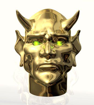 Devil Head Front Reklamní fotografie