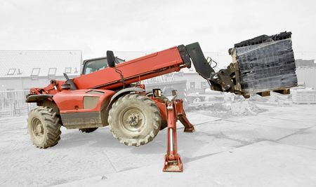 Industrial Machine Lifting - isolated Stock Photo - 3724744
