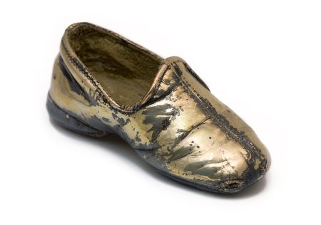 silver plated: Baby Shoe Silver Plated