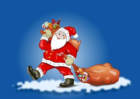 Santa Claus - Blue Sky