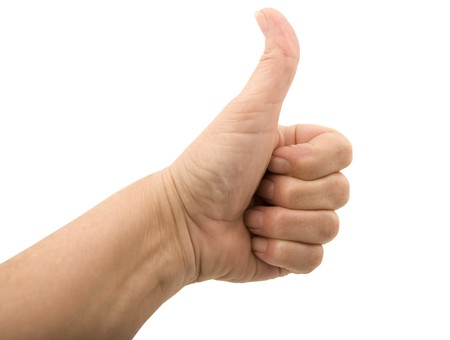 Hand Thumbs Up - Isolated