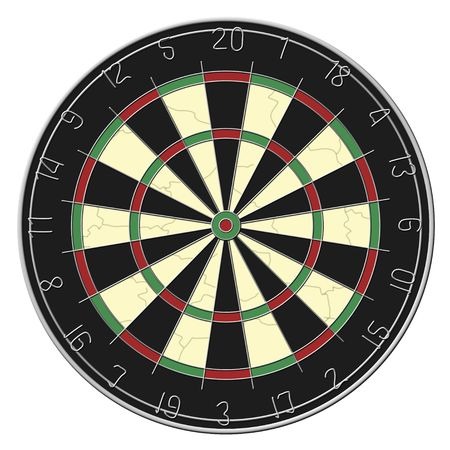 dart board: Dart Board - Isolated Stock Photo