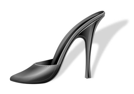 Shoe Lady Black - Isolated Stock Photo