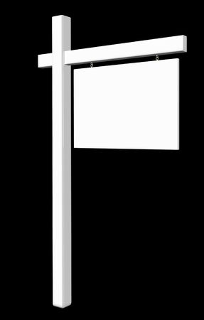 Sign Empty White - Isolated