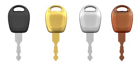 Metal Car Keys Isolated Stock Photo - 5164361