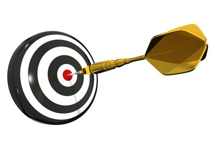 dart board: Dart Board Bullseye - isolated Stock Photo