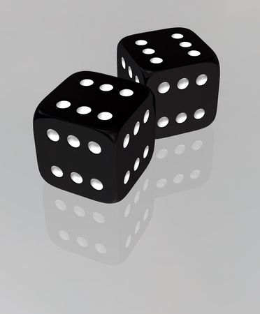 wagers: Dice Special Sixers Stock Photo