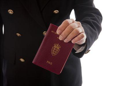 handing over: Hand - Passport handing over