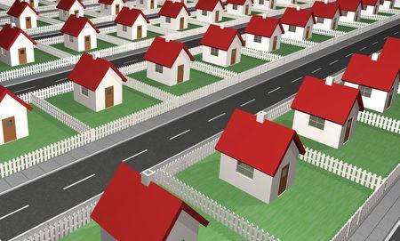 residential neighborhood: Casas - barrio residencial