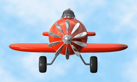 Airplane front - isolated Stock Photo