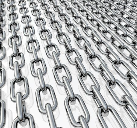 Chains in rows photo