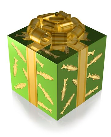 Present Green with Fish and Gold band photo