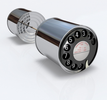 tin can telephone: Can Phone