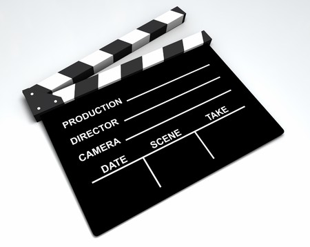 Film - Clapboard Stock Photo
