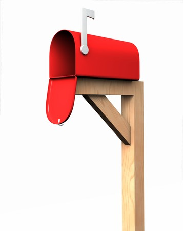 Mailbox, isolated Stock Photo