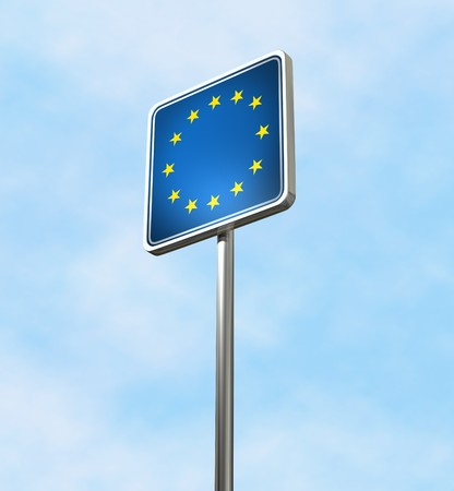 EU Welcome Sign - isolated Stock Photo