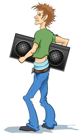 Boy with Radio