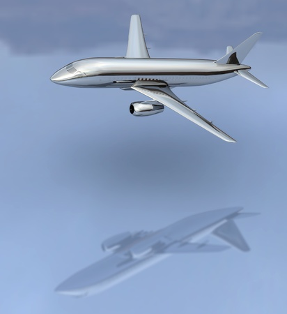 Aircraft flying low