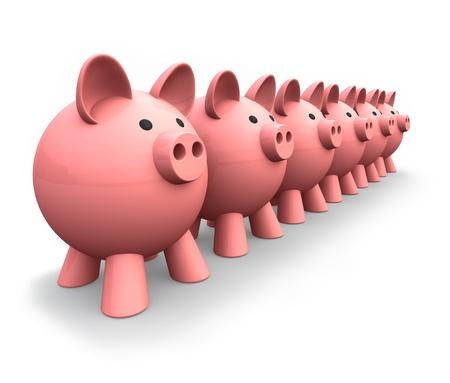 Piggy Banks Stock Photo - 13511092