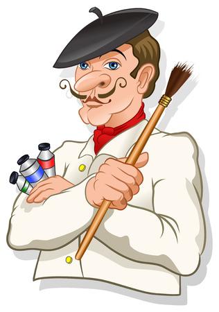 Artist Painter Stock Photo