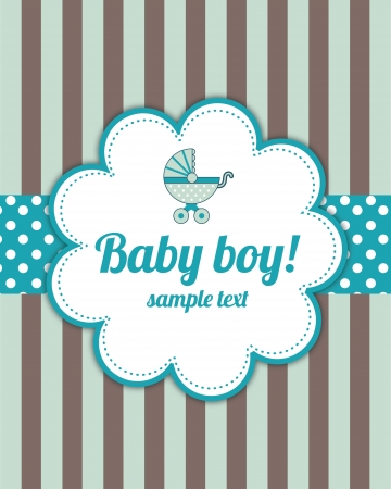 baby announcement card: Baby Boy Arrival Card
