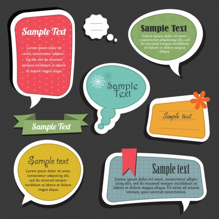 Scrapbook speech bubbles text box