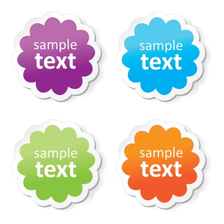 Colorful stickers Stock Vector - 19268341