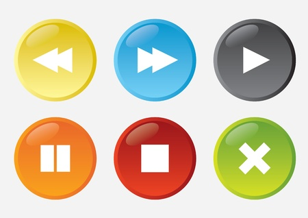 Set of web buttons Stock Vector - 20908818