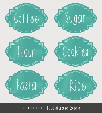 food storage: Vintage food storage labels