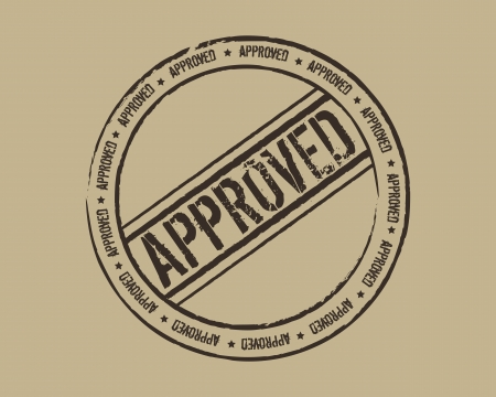 validation: Grunge stamp approved Illustration