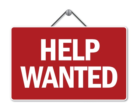 help wanted: Help wanted sign Illustration