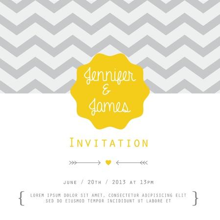 Uitstekende kaart voor uitnodiging of aankondiging