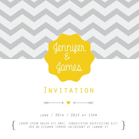 Vintage card, for invitation or announcement Vector