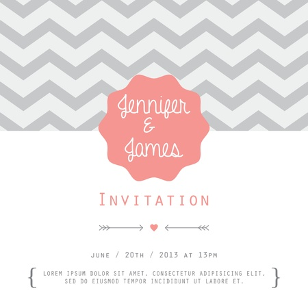 bridal party: Vintage card, for invitation or announcement