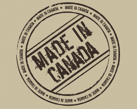 canada stamp: Grunge stamp made in Canada Illustration