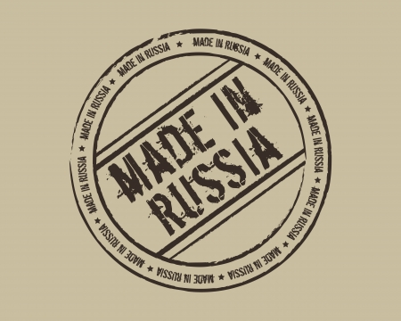 made in russia: Grunge stamp made in Russia Illustration