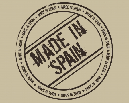 made in spain: Grunge stamp made in Spain Illustration