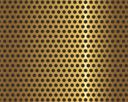 metal grid: Golden metal grid