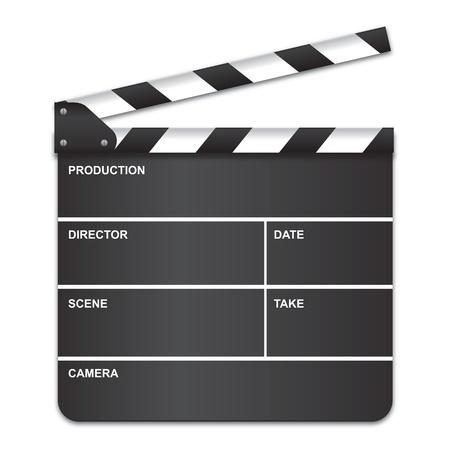 movie clapper: Consiglio di amministrazione di film batacchio Vettoriali