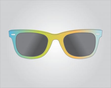 spec: Retro colorful sunglasess