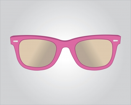 eye shade: Retro pink sunglasses