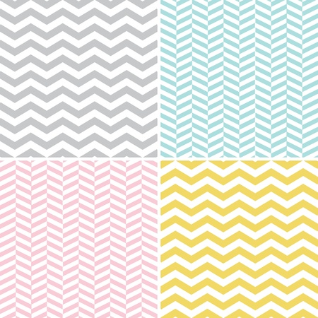 Seamless Zigzag  Chevron  Patterns Çizim