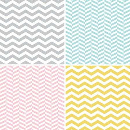 chevron: Seamless Zigzag  Chevron  Patterns Illustration