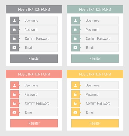 Registration form, flat design Stock Vector - 21702146