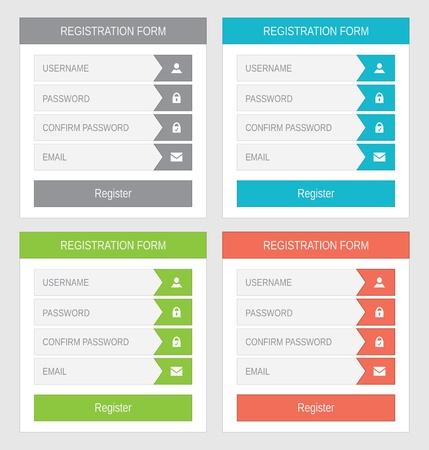 Registration form, flat design Stock Vector - 21702148