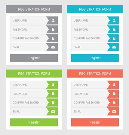 Registration form, flat design Stock Vector - 21702148