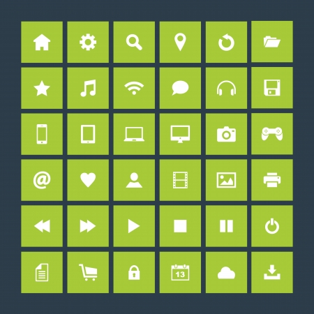 Set of icons, flat design Stock Vector - 21801694